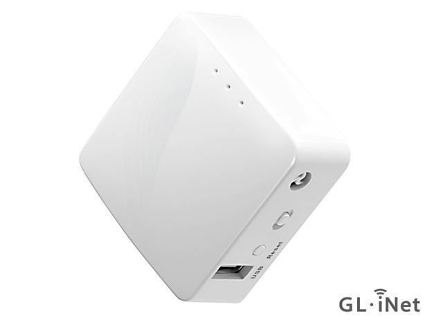GL.iNet GL-AR150 Mini Travel Router, WiFi Converter, OpenWrt Pre-installed, Repeater Bridge, 150Mbps High Performance, OpenVPN, Programmable IoT Gateway