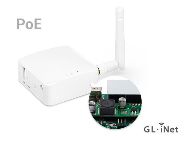 GL.iNet GL-AR150 Mini Router with PoE and 2dbi external antenna, OpenWrt, 802.3af active