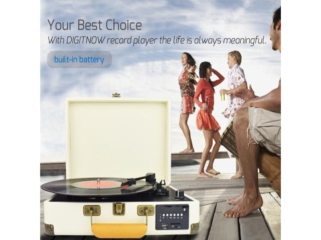 DIGITNOW Record Player, Turntable Suitcase with Multi
