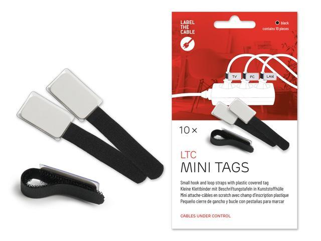 Cable Management Cable Ties with Labels, 10 PCS, Black ... on