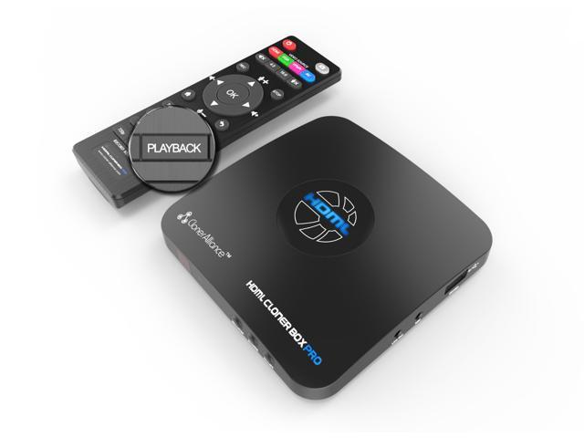 HDML-Cloner Box Pro, capture 1080p HDMI videos/games and play back instantly with the remote control, schedule recording, HDMI/VGA/AV/YPbPr input. No PC required.