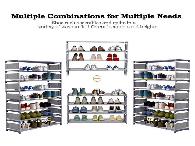 8 Layers Large Capacity for 32 Pairs of Shoes Storage Organizer Portable Shoe Rack Shelf