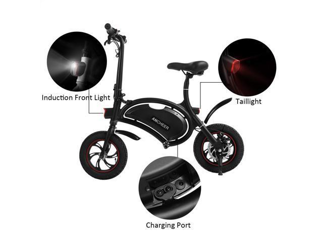 Ancheer Aluminum Folding Portable  Electric Bike 350W APP Speed Setting Black