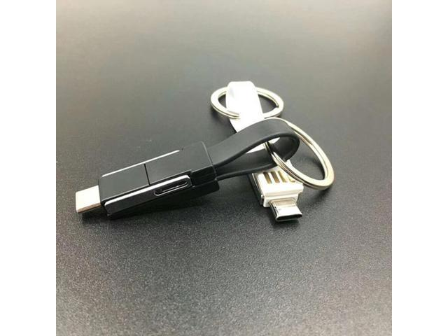 Portable Keychain Lightning/Micro/Type C Charger for Apple and Android Device