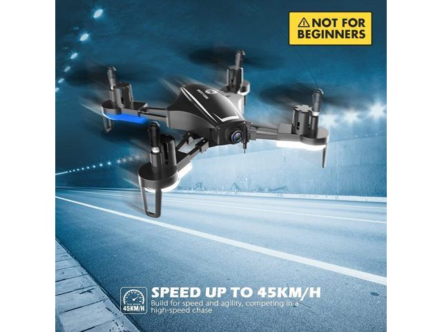 Holy Stone HS230 RC Racing Drone with 720P HD Camera Live Video, High Speed Wind Resistance, 5.8G LCD Screen Real Time Transmitter Includes Bonus Battery