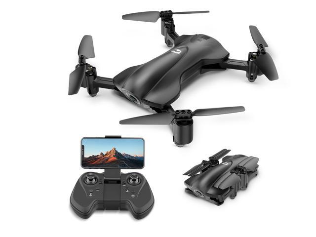 Holy Stone - HS165 Foldable 5G Wifi FPV Drone with 1080P Camera and GPS, Custom Flight, Black