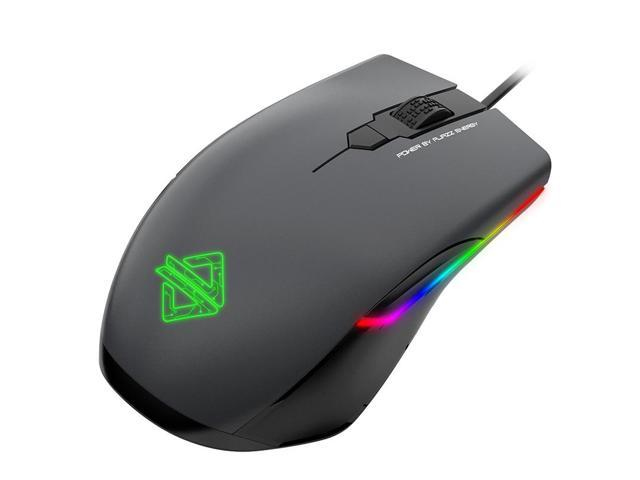 Ajazz AJ903 Gaming Mouse USB Wired Mouse 16000 DPI RGB Lighting Mice 32bit 50G Acceleration Customized Macro Programming Mouse