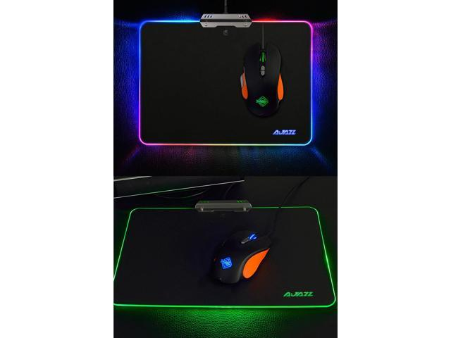 Ajazz MP02 AJPad LED RGB Backlight Gaming Mouse Pad USB Wired With Touch Control Gamer Pad With 8 Lighting Modes