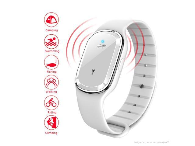 PowMate Wristband Ultrasonic Mosquito Repellent, chemical-free repeller for baby,camping,travel to drive away mosquitoes