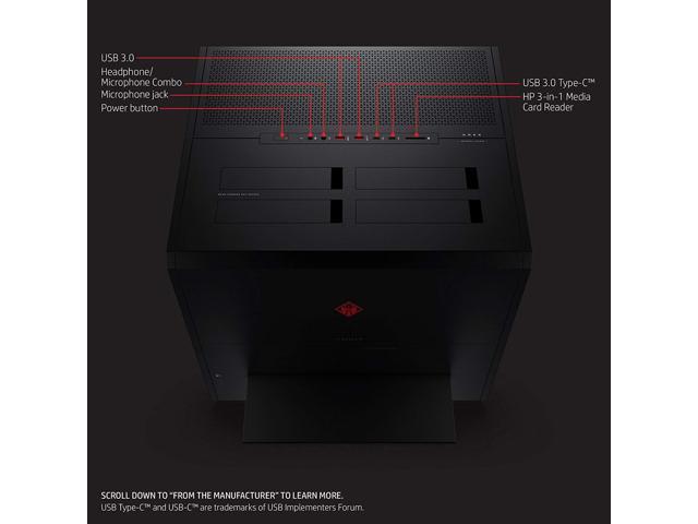 HP Gaming Desktop OMEN X 900-030 Intel Core i7-6700K 16 GB DDR4 2 TB