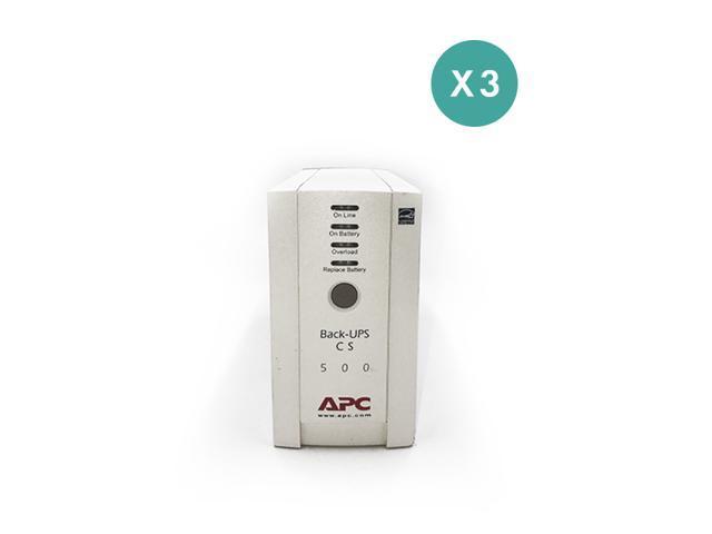 Refurbished: APC Back-UPS 500 (BK500) - 2 Year Warranty Included - Qty 3