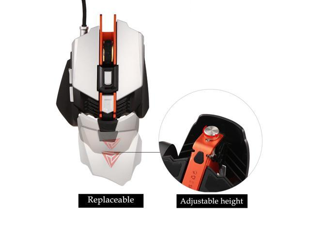 Professional RGB Mechanical Mouse 4000DPI 7 Button Wired Gaming Mouse 4 Color Changing Mice for PC Laptop Desktop