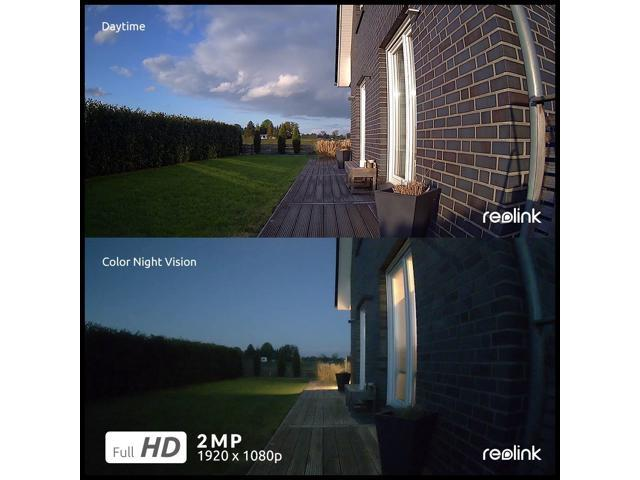 Reolink Argus 2 1080P Security Camera with Solar Panel Battery Powered Support Local Storage, PIR Motion Detection, 2 Way Audio, Color Night Vision, 130° Wide View Angle
