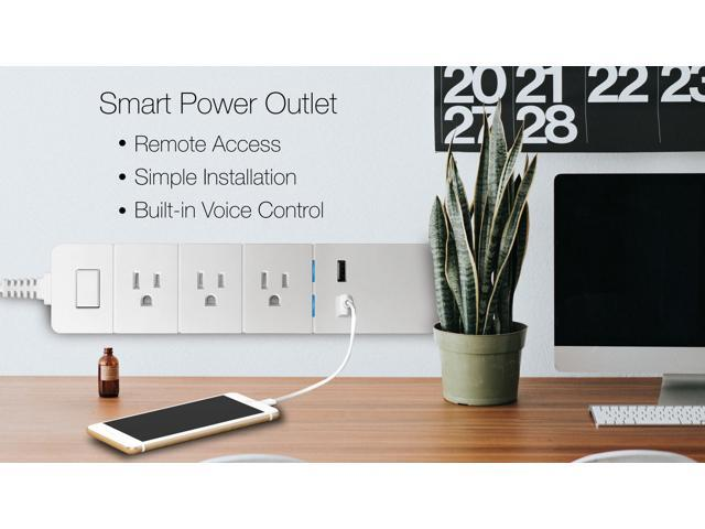 eco4life by Sonicgrace WiFi Smart Power Strip Surge Protector 2 USB Ports and 3 AC Plugs