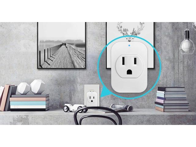 eco4life by Sonicgrace 3 Pack Smart Wi-Fi Single Plug Outlet Compatible with Amazon Alexa and Google Assistant Voice Control via App through Smart Phone