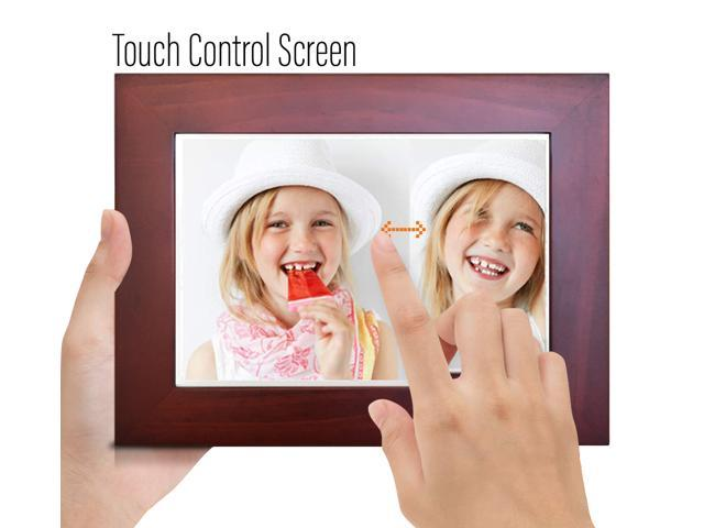 "Sonicgrace 8"" WiFi Cloud Digital Photo Picture Wooden Frame Ultra HD IPS Display"