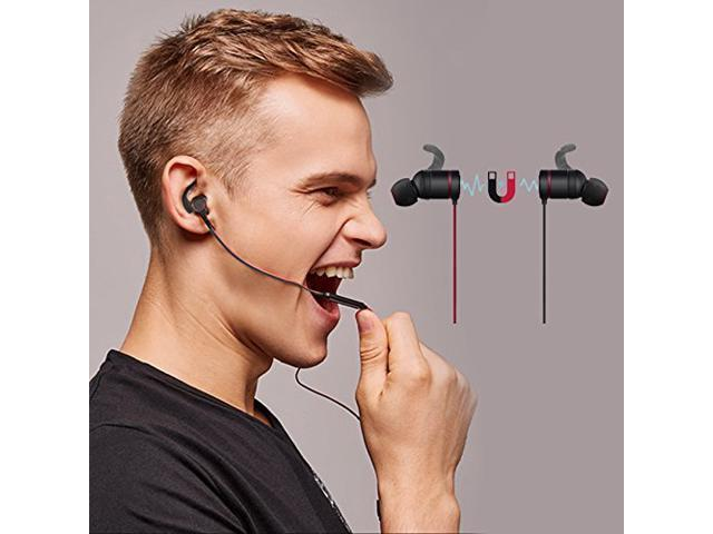 Bluetooth Eardphones, ZENBRE E4 Bluetooth 4.1 Magnetic Switch Stereo In-Ear Earbuds,Bluetooth Headphone, Wireless Headset A-alloy and Secure Ear Hooks Noise Isolating with Enhanced Bass.