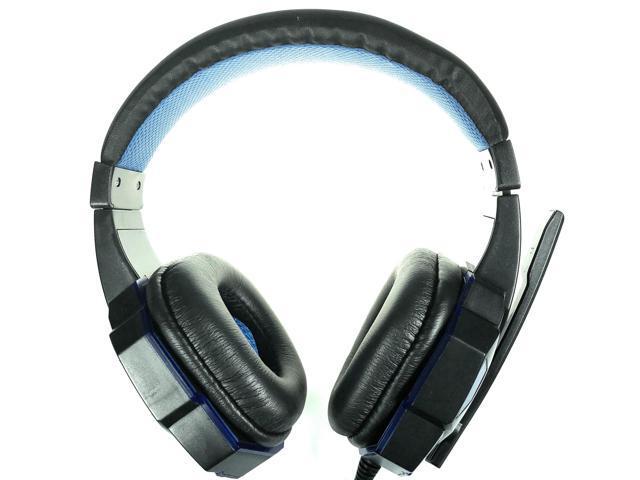 New Krazilla KZH-830 Blue HD Gaming Headphones 20-20,000Hz 50mW 2.1m Cord