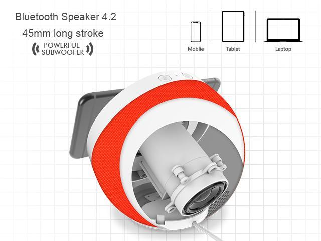 Heecavs Wireless Charger with Bluetooth Speaker 4.2, Christmas Gift Fast Charge 7.5W iPhone Xs / Xs Max / XR / X / 8 / 8 Plus, 10W Samsung S9 / S9+ / Note 8 / S8+ / S8 and 5W for Qi-enabled Devices
