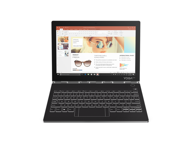 Lenovo Yoga Book C930 - Iron Grey, 7th Generation Intel® Core™ i5-7Y54 (1.20GHz, up to 3.20GHz with Turbo Boost, 4MB Cache), 256GB SSD, 4GB LPDDR3 (Onboard), Windows 10 Home 64