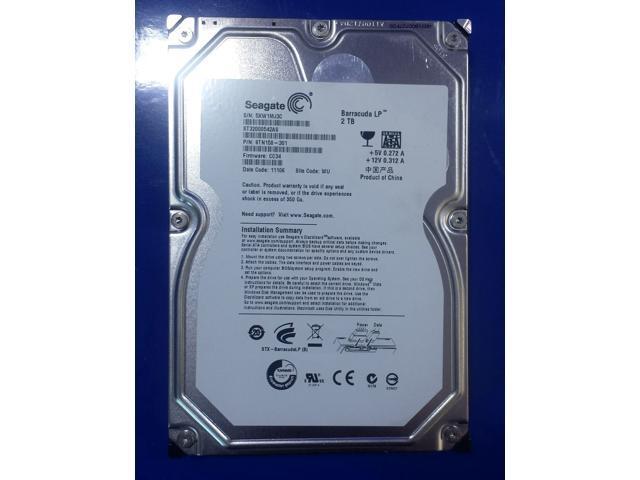 """Refurbished: Seagate Grade A ST32000542AS 2TB 3.5"""" HDD SATA 3.0Gb/s 7200RPM LP Desktop Internal Hard Drive 1 Year Warranty - OEM"""