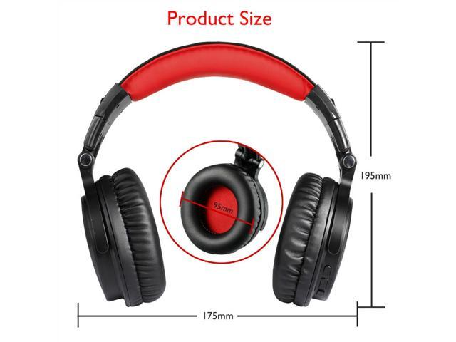 Bluetooth Over Ear Headphones, OneOdio Wired Gaming Stereo Headsets with Detachable Mic for PS4, Xbox one, PC, Cell Phones, Office, Wireless Headset with 30 Hrs Play Time