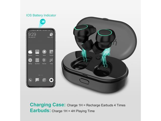 Arbily Wireless Headphones, Bluetooth 5.0 Earbuds Touch Control,Bluetooth Headphones18H Playtime and Noise Cancellingfor True Wireless In-ear Earbuds with Charging Box