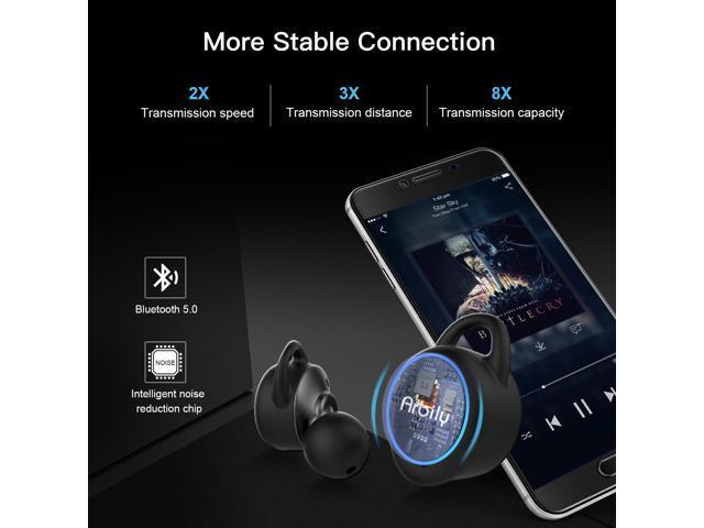 Arbily Wireless Headphones,  Bluetooth 5.0 Earbuds WiFi Stereo Deep Bass, Waterproof Sports Bluetooth Headphones with Charging Case