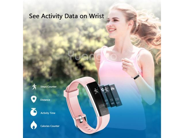 Muzili 115U  Activity Tracker Waterproof Sport Bracelet Touchscreen Fitness band withStep Counter/Calorie Counter/Sleep Monitor Tracker/Call Notification for Kids Women and Men