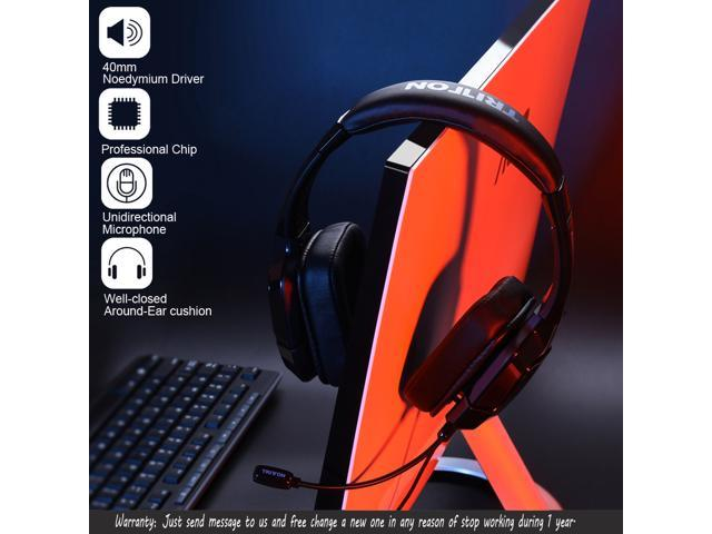 TRITTON Kama Plus Stereo Gaming Headset for PS4, PC, Xbox One, Noise Cancelling Over Ear Headphones with Mic, Soft Memory Earmuffs for Laptop Mac Nintendo Switch Games