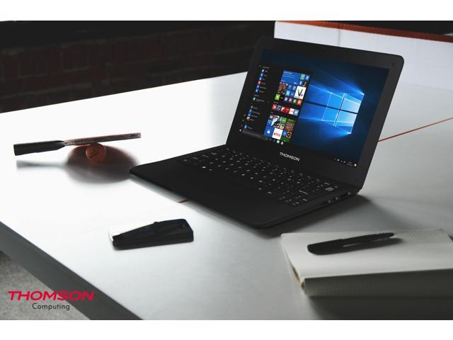"""THOMSON NEO10 Laptop, Win 10, Mobile MS Office FREE, Intel CPU, 2/32GB, 10.1"""" Display 1024x600, Webcam, Wi-Fi & Bluetooth 4.0, Keyboard with Multi-touch Pad, Battery up to 7 hours, Black, Slim & Light"""