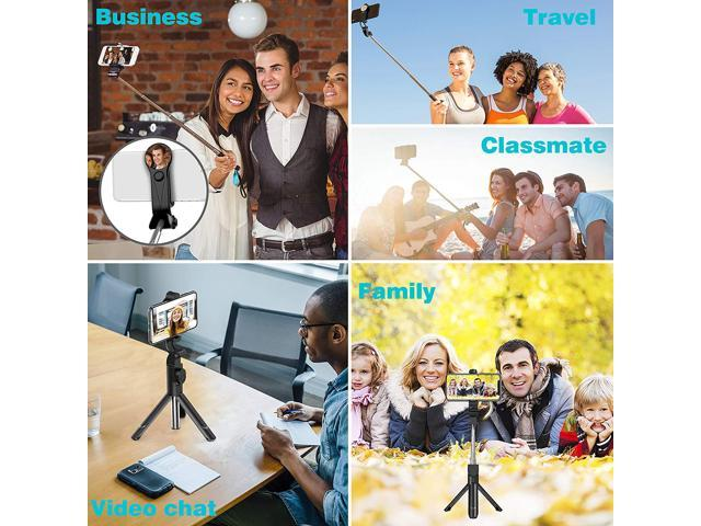 Extendable Selfie Stick Tripod with Detachable Wireless Remote and Tripod Stand Selfie Stick for iPhone X/iPhone 8/8 Plus/iPhone 7/7 Plus, Galaxy S9/S9 Plus/S8/S8 Plus/Note8,Huawei,More