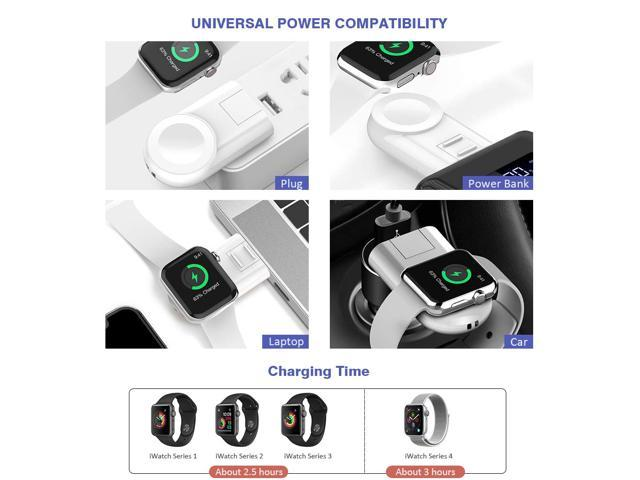 Charger for Apple Watch Wireless Portable Adjustable Magnetic Charger iWatch Travel Cordless Charge Compatible for Apple Watch Series 4 3 2 1