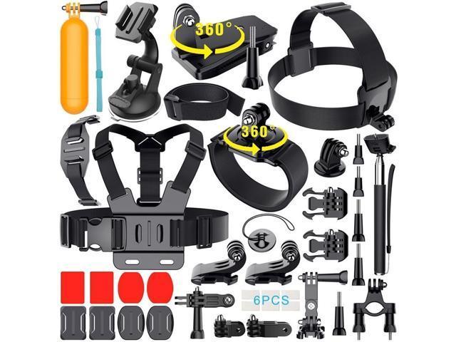 Refurbished: GoPro HERO 4 Black Edition + Sports Accessory Kit Complete Bundle (40+ PCS)