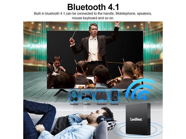 Android TV Box 8.1, 4GB RAM+64GB ROM Leelbox Q4 MAX