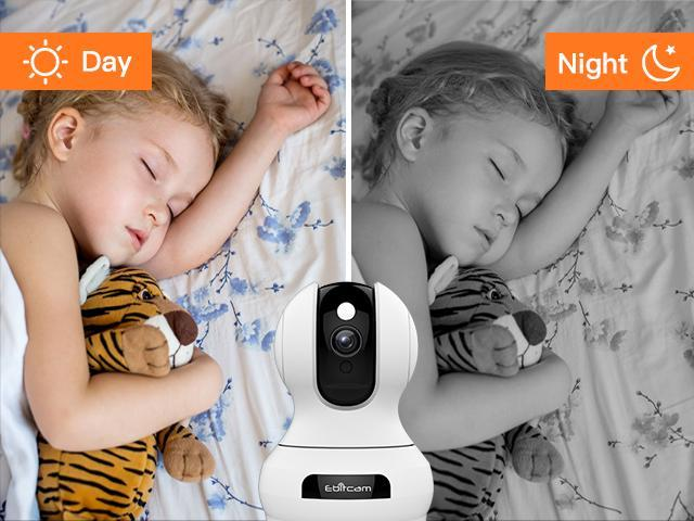 Ebitcam 1536P FHD Smart Camera ,Wireless Indoor Wifi Camera with Smart-Tracking,Motion Detection Alarm,Night Vision,2-Way Audio,Watch Live Video from Anywhere for Baby/Elder/Pet