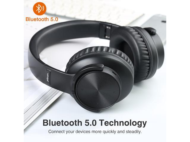 Picun B8 Active Noise Cancelling Headphones with Bluetooth and Mic,50mm Drivers HiFi Foldable Headsets,40H Playtime for Travel, Work, TV, PC, and Cellphone