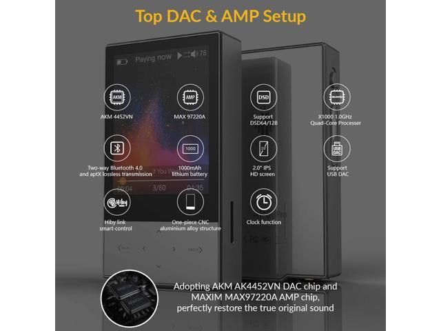 HIDIZS AP60 II Bluetooth MP3 Player, Portable Hi Res Music