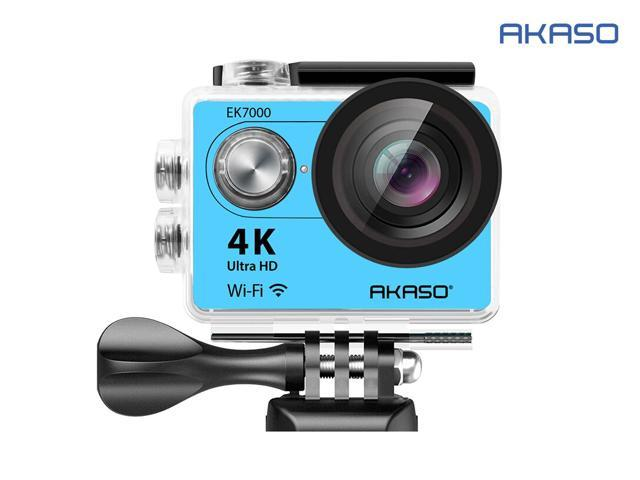 AKASO EK7000 4K Wi-Fi Sports Action Camera 12MP  Ultra HD Waterproof DV Camcorder 170 Degree Wide Angle Blue
