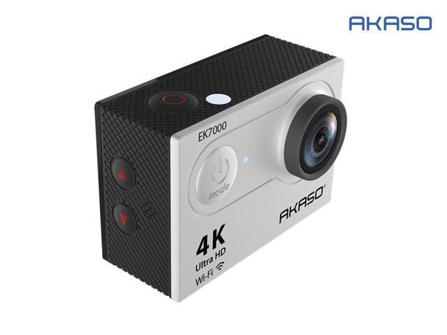 AKASO EK7000 4K Wi-Fi Sports Action Camera 12MP Ultra HD Waterproof DV Camcorder 170 Degree Wide Angle Silver