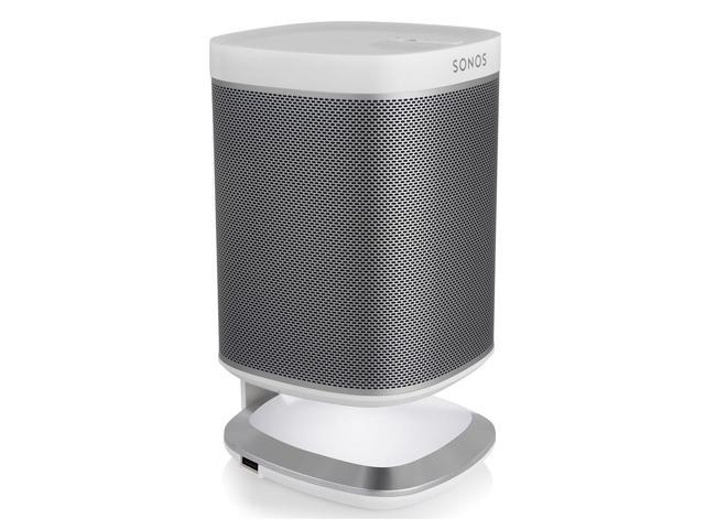 Flexson Lighted Desktop Speaker Stand for Sonos PLAY 1 with USB Charger (White)