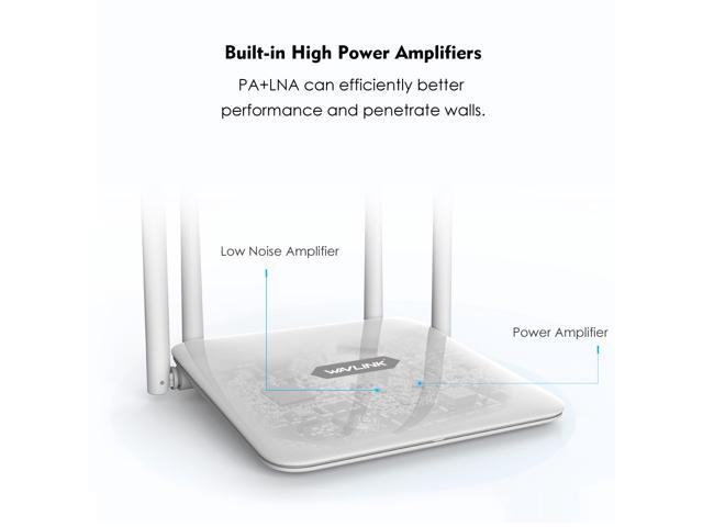 Wavlink AC1200 High Power Dual Band 2.4G/5GHz Wireless Router,  Wi-Fi Router with 4 x LAN Ports, IEEE 802.11ac/a/b/g/n, 4 x 5Dbi High Gain External Antennas, Smart LED Indicator, Support WPS, WPA/WPA2
