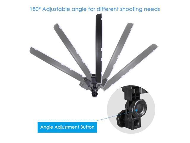 "19"" 50W LED Ring Light Stand Kit Dimmable 3200-5500K Camera Phone Holder Photo Video Makeup Lighting"