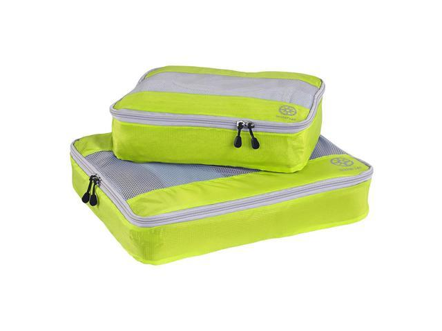 2Pcs Uncharted Ultra-Lite Clothes Storage Packing Cube Travel Luggage Set Yellow