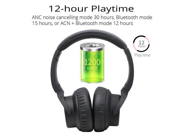 Clambo BH-ANC45 ANC Wireless Over-Ear Active Noise-Cancelling Bluetooth Headphones Headsets with Mic 12-hour Playtime