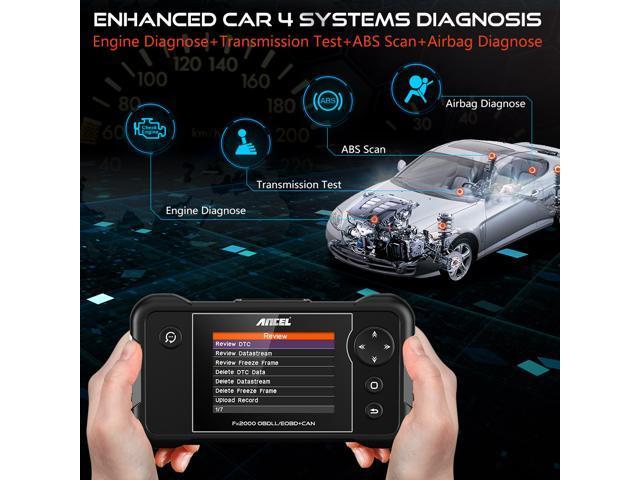 Ancel FX2000 OBD2 Scanner Transmission ABS Airbag SRS Check