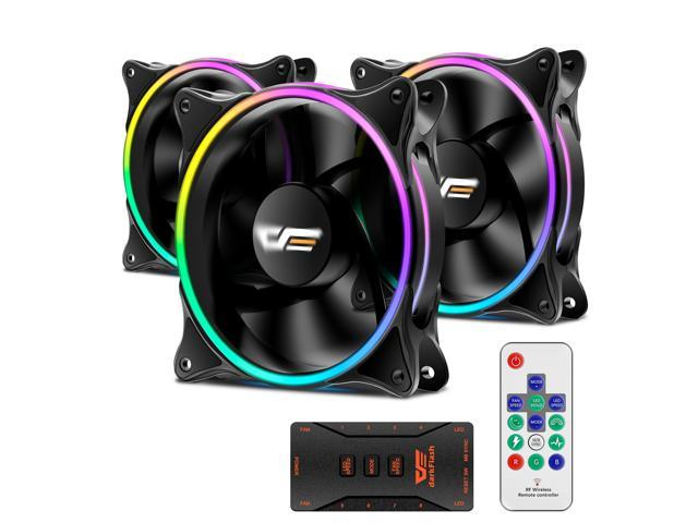 darkFlash MR12 3-in-1 PRO 120mm Addressable RGB LED Case Fan Kit