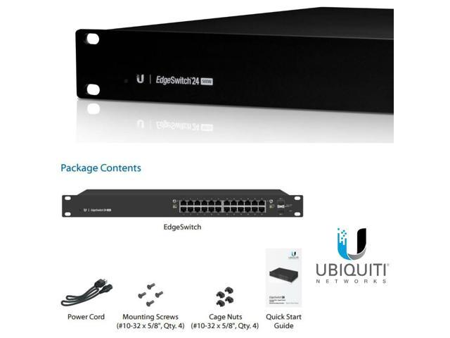 Ubiquiti Networks EdgeSwitch 24 ES-24-500W-US Managed PoE+ Gigabit Switch  with SFP - Newegg com