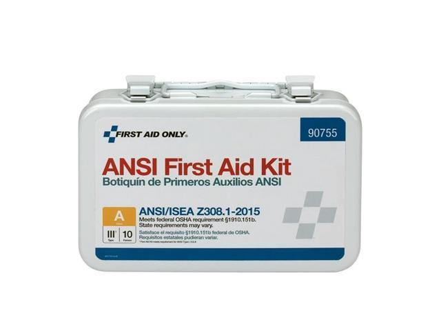 ANSI Class A 10 Person First Aid Kit, 71 Pieces 90754 - Newegg com