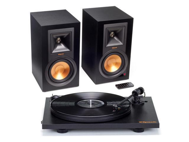 Klipsch R-15PM Powered Monitor Speakers and Pro-Ject Primary Turntable  Package (Black) - Newegg com